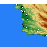 Nearby Forecast Locations - Lompoc AFB - Kaart