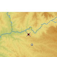 Nearby Forecast Locations - Capinópolis - Kaart