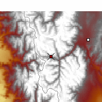 Nearby Forecast Locations - Puente del Inca - Kaart