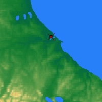 Nearby Forecast Locations - Río Grande - Kaart