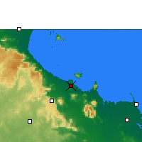 Nearby Forecast Locations - Townsville - Kaart