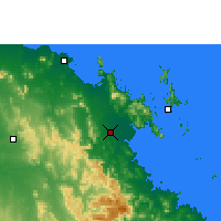 Nearby Forecast Locations - Proserpine - Kaart