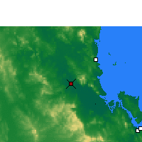 Nearby Forecast Locations - Rockhampton - Kaart