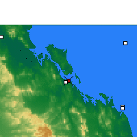 Nearby Forecast Locations - Gladstone - Kaart