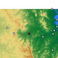 Nearby Forecast Locations - Gatton - Kaart