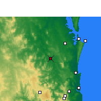 Nearby Forecast Locations - Gympie - Kaart