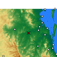 Nearby Forecast Locations - Amberley - Kaart