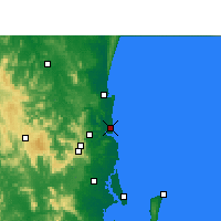 Nearby Forecast Locations - Sunshine Coast Airport - Kaart
