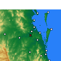 Nearby Forecast Locations - Archerfield - Kaart
