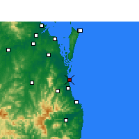 Nearby Forecast Locations - Gold Coast Seaway - Kaart