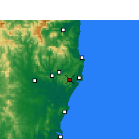 Nearby Forecast Locations - Alstonville - Kaart