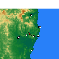 Nearby Forecast Locations - Lismore - Kaart