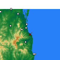 Nearby Forecast Locations - Coolangatta - Kaart