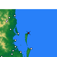 Nearby Forecast Locations - Cape Moreton - Kaart