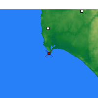 Nearby Forecast Locations - Augusta Cape - Kaart