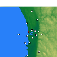 Nearby Forecast Locations - Swanbourne - Kaart