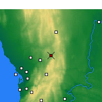Nearby Forecast Locations - Nuriootpa - Kaart