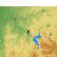 Nearby Forecast Locations - Wellington Res. - Kaart