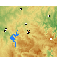 Nearby Forecast Locations - Mudgee Luchthaven - Kaart