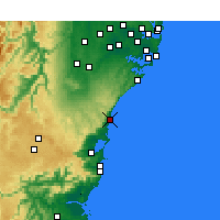 Nearby Forecast Locations - Bellambi Aws - Kaart