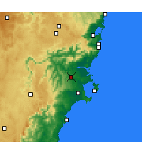 Nearby Forecast Locations - Nowra - Kaart