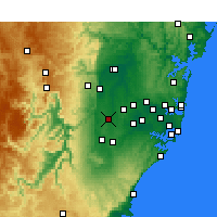 Nearby Forecast Locations - Badgery's Creek - Kaart