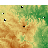 Nearby Forecast Locations - Nullo Mount. - Kaart