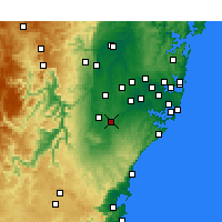 Nearby Forecast Locations - Campbelltown - Kaart