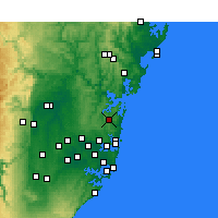 Nearby Forecast Locations - Terrey Hills - Kaart