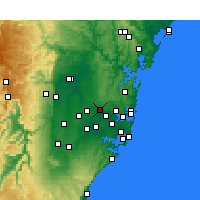 Nearby Forecast Locations - Parramatta - Kaart