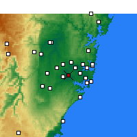 Nearby Forecast Locations - Bankstown - Kaart