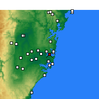 Nearby Forecast Locations - Sydney - Kaart