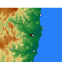 Nearby Forecast Locations - Kempsey Airport - Kaart