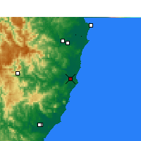 Nearby Forecast Locations - Port Macquarie - Kaart