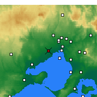 Nearby Forecast Locations - Melbourne - Kaart