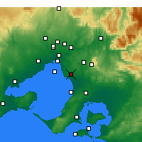 Nearby Forecast Locations - Moorabbin - Kaart