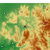 Nearby Forecast Locations - Eildon - Kaart