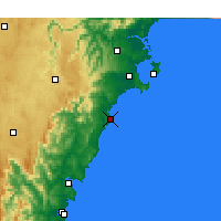 Nearby Forecast Locations - Ulladulla - Kaart