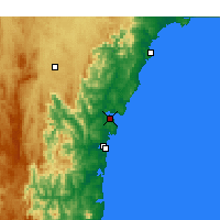 Nearby Forecast Locations - Batemans Bay - Kaart