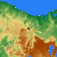 Nearby Forecast Locations - Erriba - Kaart