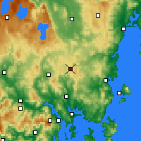 Nearby Forecast Locations - Tunnak - Kaart