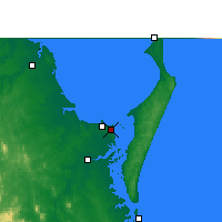 Nearby Forecast Locations - Hervey Bay Airp. - Kaart