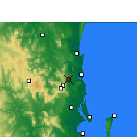 Nearby Forecast Locations - Nambour - Kaart