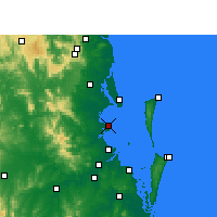 Nearby Forecast Locations - Redcliffe - Kaart