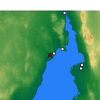 Nearby Forecast Locations - Whyalla Airport - Kaart