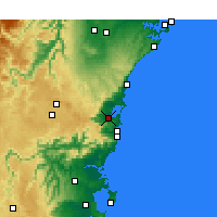 Nearby Forecast Locations - Wollongong - Kaart