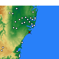 Nearby Forecast Locations - Wattamolla Aws - Kaart