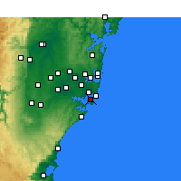 Nearby Forecast Locations - Kurnell - Kaart