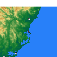 Nearby Forecast Locations - Forster - Kaart
