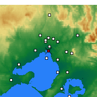 Nearby Forecast Locations - St Kilda (Melbourne) - Kaart
